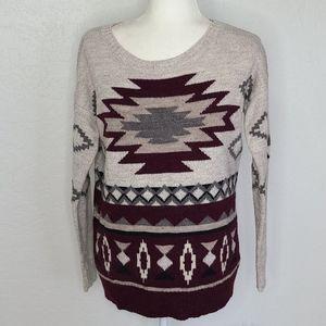 AEO southwestern print sweater, Aztec tribal small